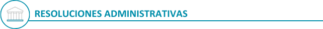 Resoluciones administrativas (newsletter)